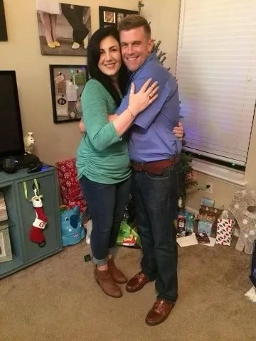 Timothy Smith, right, with his sister, Brittany Jackl. Smith was the lone victim in a mass shooting at a cabinet business in Bryan, Texas