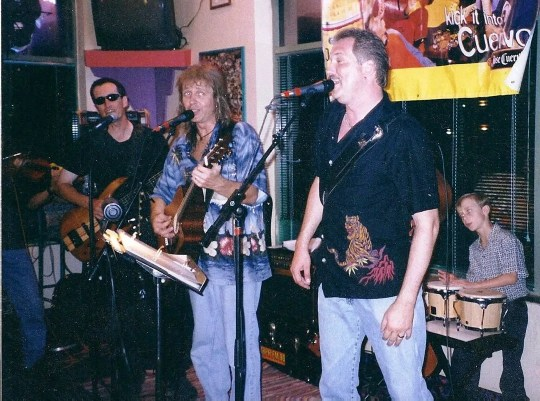 Pete Gitlin on far left in sunglasses with Luke Warm and the Not-So-Hots.