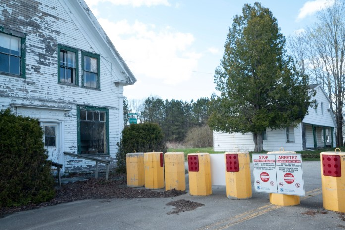 The Nelson Country Store in Norton, Vt., located right on the U.S.-Canada border. Up until 2017, travelers from both sides of the line could pass by the country store and its main road before barriers were put up.