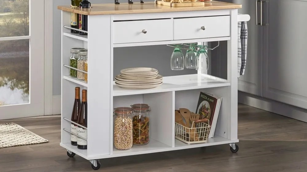 Get extra storage space with this rolling cart from Christopher Knight Home.