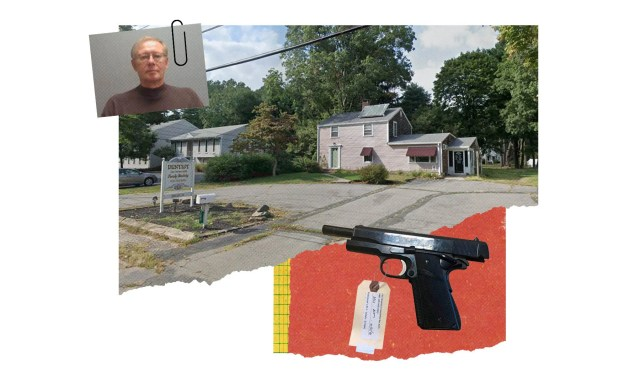 John Peterson operated a gun shop, SEMASS, alongside his dentist business – and even combined the two, selling guns to patients.