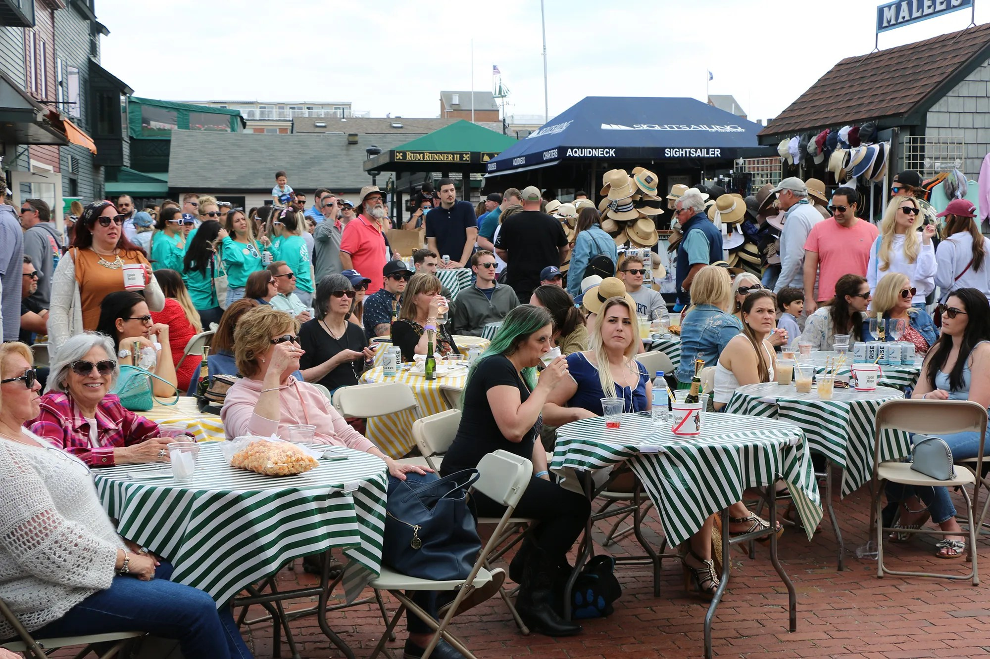 Bowen's Wharf was packed in May for the Newport Oyster & Chowder festival, the first major event in the city since the start of the COVID pandemic. Newport and state officials are looking at ways to build back tourism in the city and state.