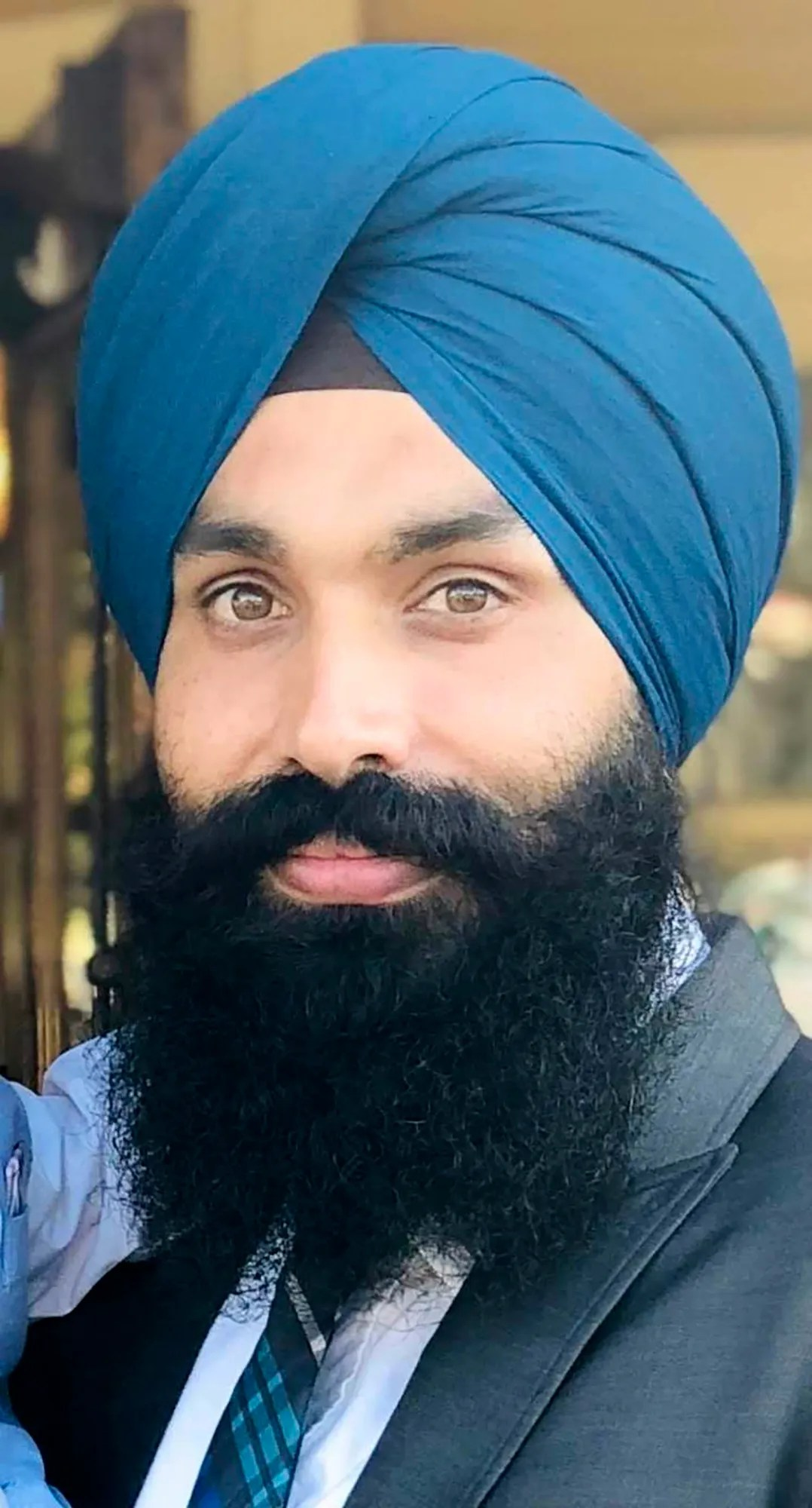 This undated photo provided by the Sikh Coalition shows Taptejdeep Singh, one of the nine victims of a shooting at a Valley Transportation Authority rail yard on Wednesday, May 26, 2021, in San Jose, California.