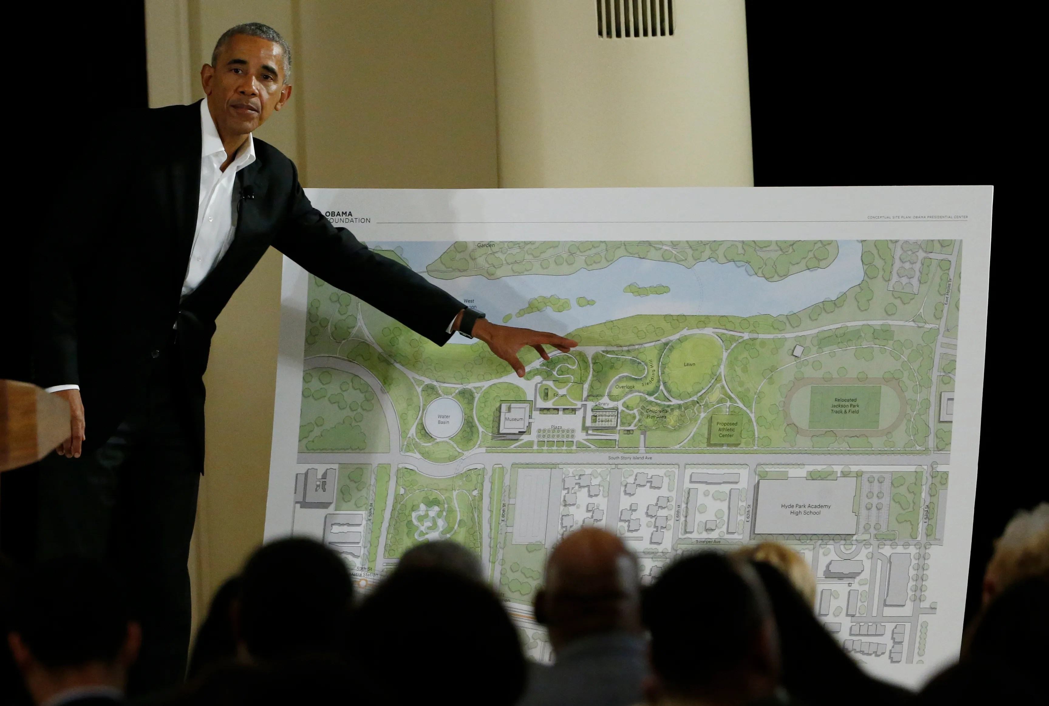 Former President Barack Obama speaks at a community event on the Presidential Center at the South Shore Cultural Center, Wednesday, May 3, 2017, in Chicago.