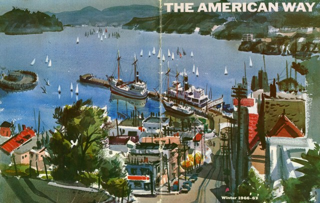American Airlines introduced its in-flight magazine, The American Way, in 1966.