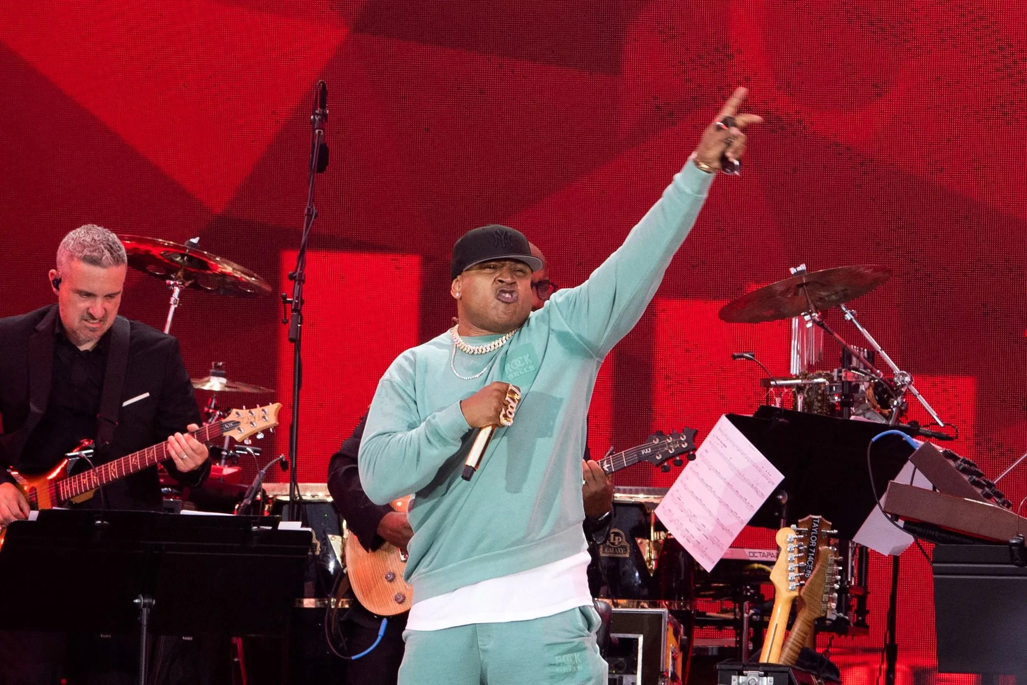 """LL Cool J performs  during the """"We Love NYC: The Homecoming Concert"""" in Central Park on August 21, 2021 in New York City. His set also featured Fat Joe, Rev. Run of Run-D.M.C. and Busta Rhymes."""