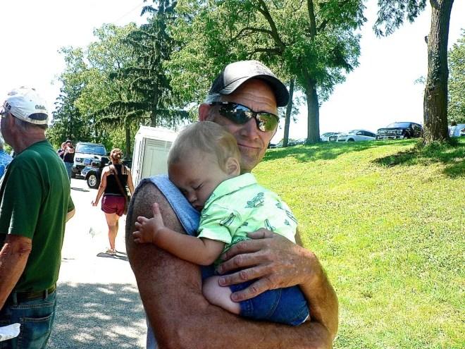 Granddad David Kurt and one-year-old Roy Handel.