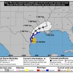 Storm strengthens before making Texas landfall 💥💥