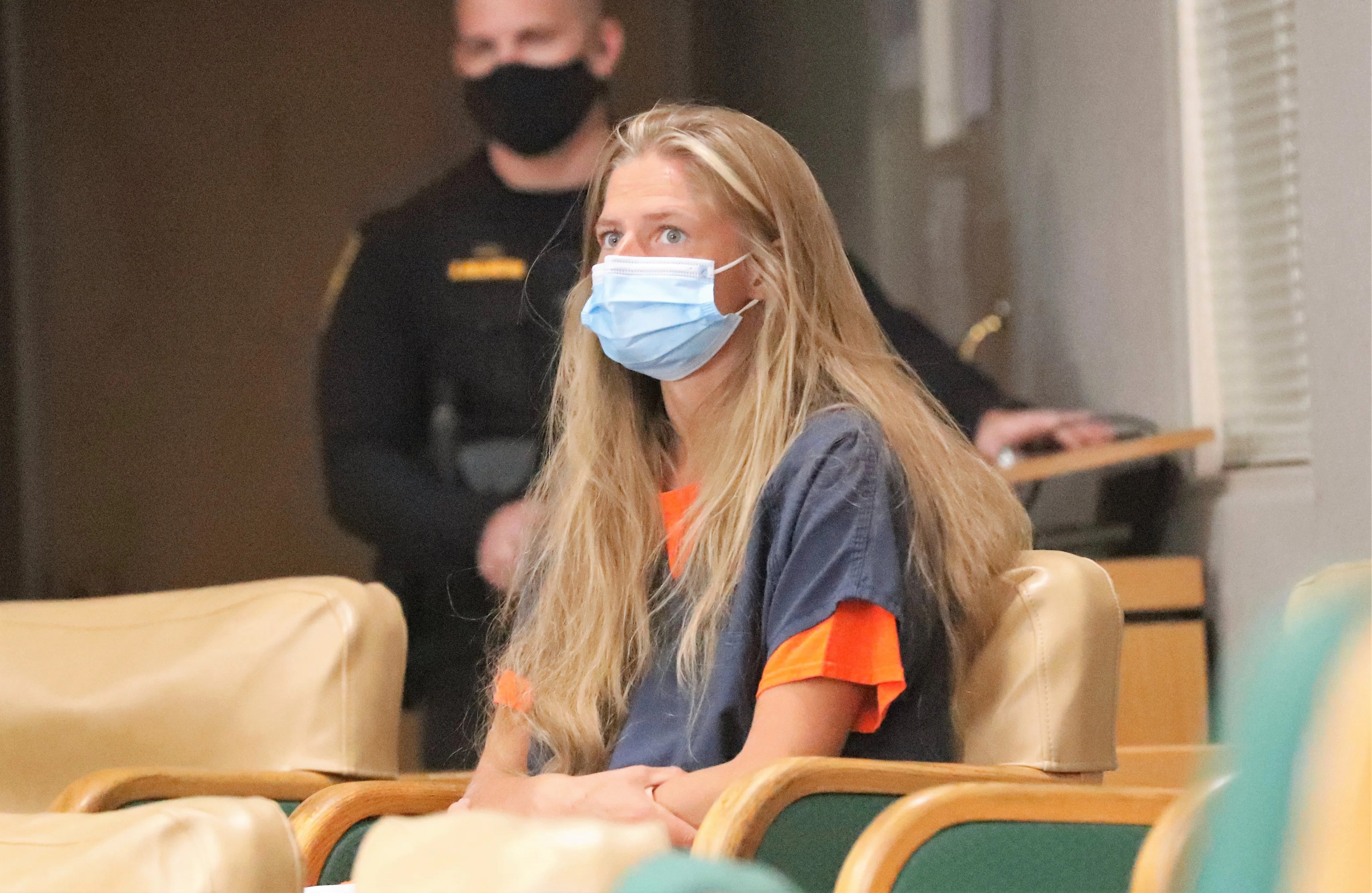 Arson suspect Alexandra Souverneva appears in Shasta County Superior Court on Friday afternoon, September 24, 2021.