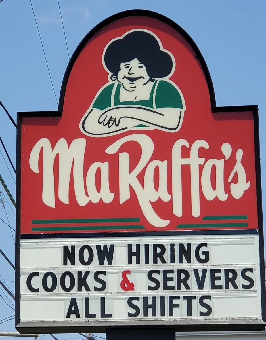 Ma Raffa's in Somerset in one of the many SouthCoast restaurants to post hiring notices.