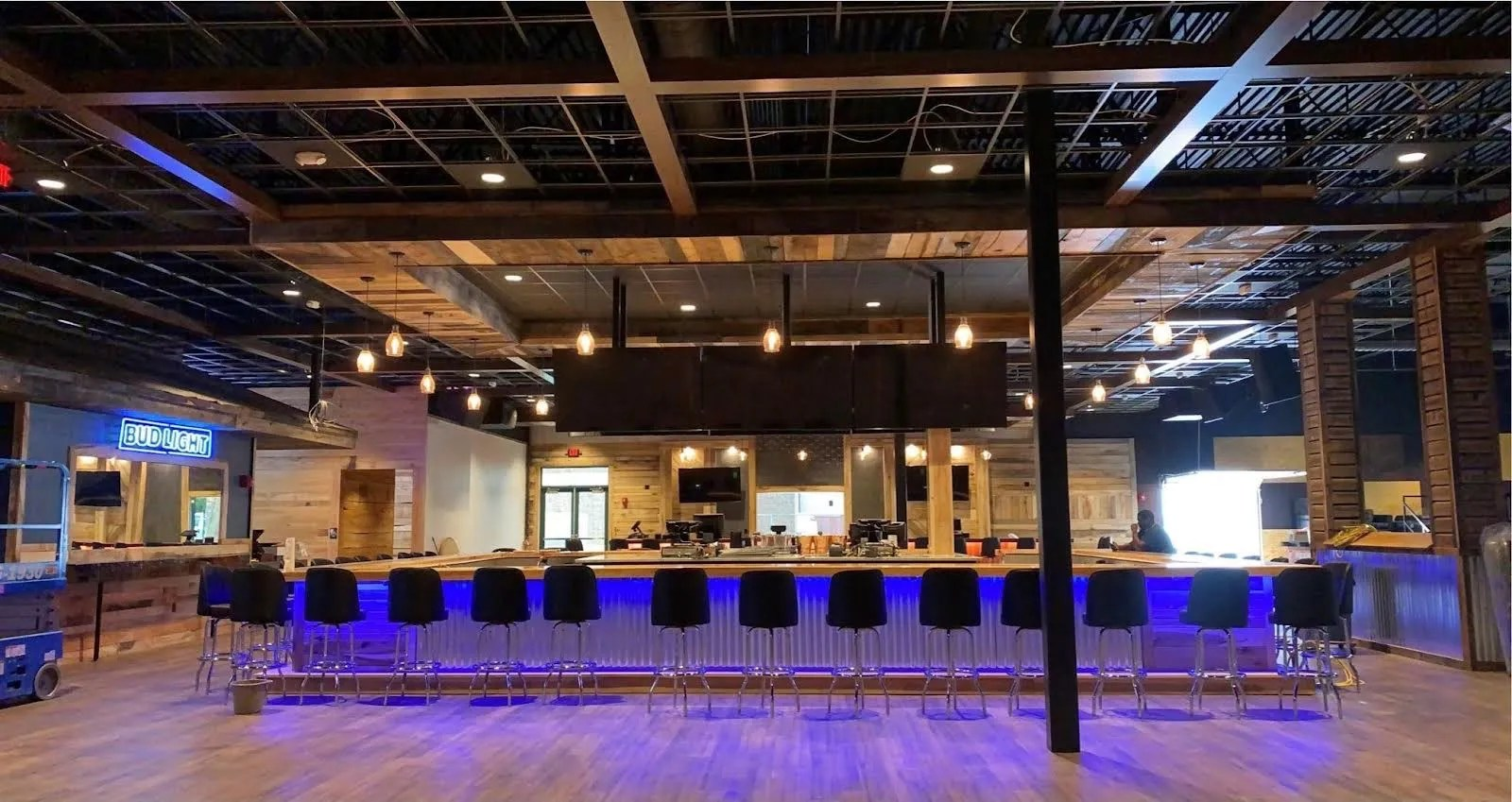 The interior of Lori's Roadhouse, a new restaurant, bar and live music venue in West Chester.
