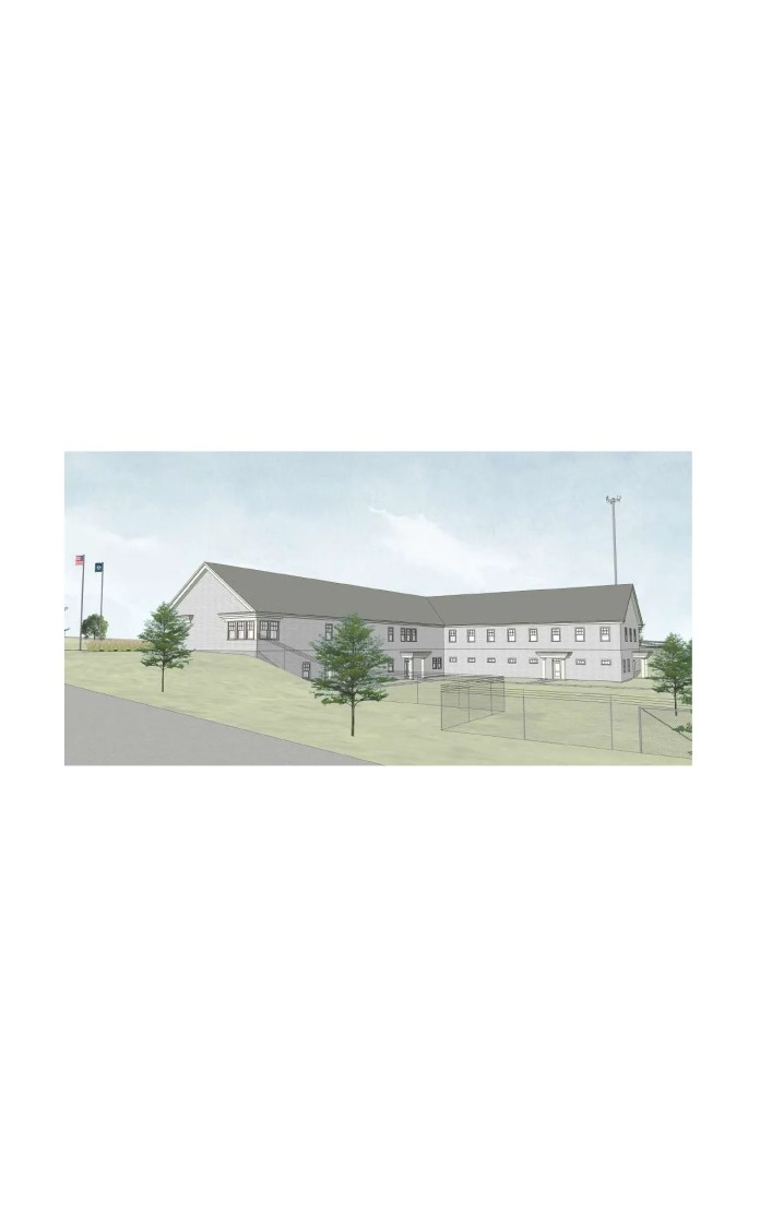 A new Vermont Department of Public Safety building proposed for Williston, just south of I-89, is seen in this rendering created by Smith-Alvarez-Sienkiewycz Architects on Sept. 7, 2021. This view is from the northeast, as the building would look from St. George Road. Construction on the $12 million project might begin this year; completion is slated for 2023.