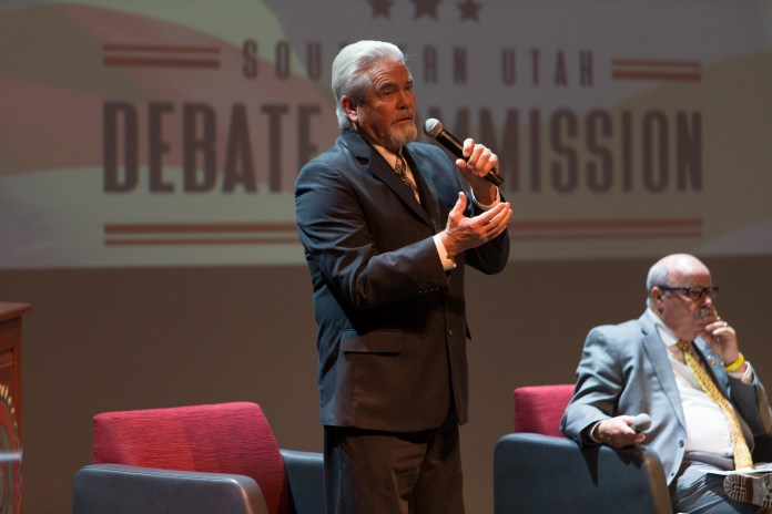 St. George City Council candidates meet at Dixie State University for a public debate Tuesday, Oct. 12, 2021.