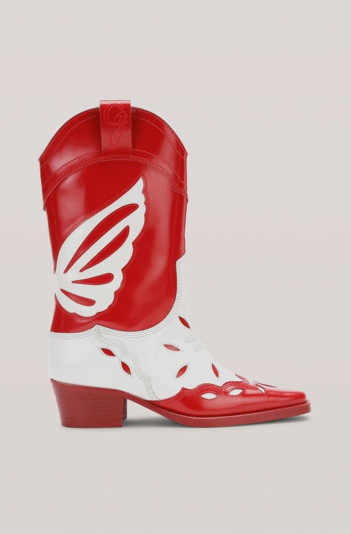 High Texas Boots, Leather, in colour Lollipop - 1 - GANNI