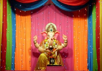 Ganpati Decoration Ideas Colorful Ttas Chunri