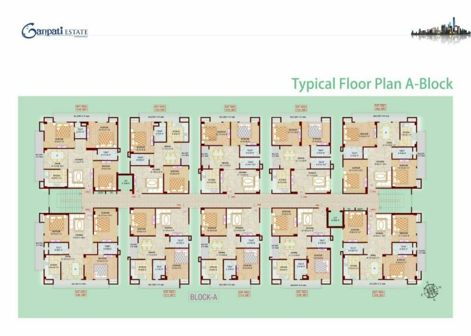 typical floor plan ganpati estate