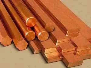 Copper Round Bar Copper Rods Copper Hex Bar Manufacturers  Suppliers