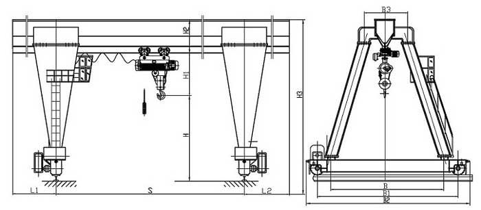 A Frame Crane Design