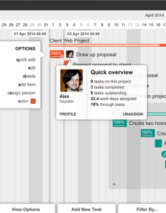 Gantt chart of  client web project also the based maker rh ganttology