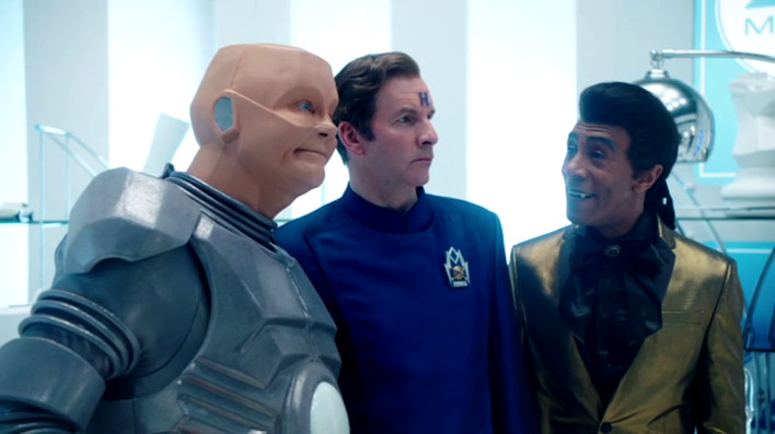Kryten in smug mode, though thank fuck he doesn't actually say that