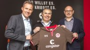 congstar Vertragsunterzeichnung mit dem FC St. Pauli