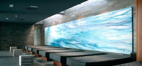 Wasserbetten Ruheraum