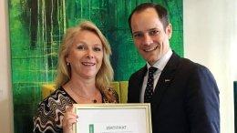 Das Greensign wird an das Radisson Blu Hotel Hamburg verliehen