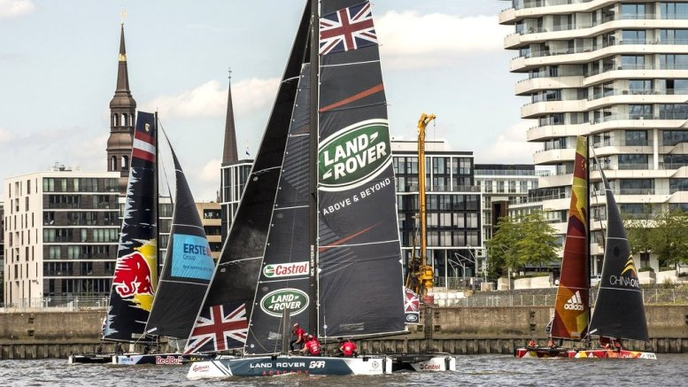 Extreme Sailing Series: GC32 Rennkatamanrane in Hamburg