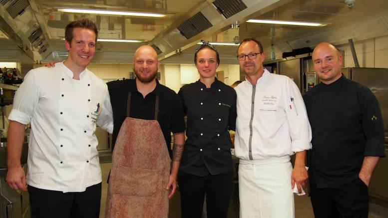 Die Köche beim Auftakt des Schleswig-Holstein Gourmet Festival 2017 in der Küche