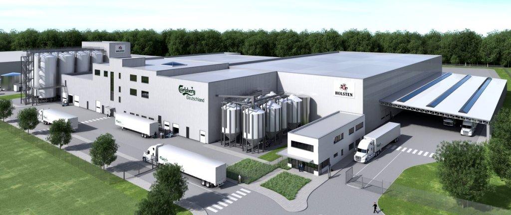Visualisierung der neuen Carlsberg - Holsten Braustätte