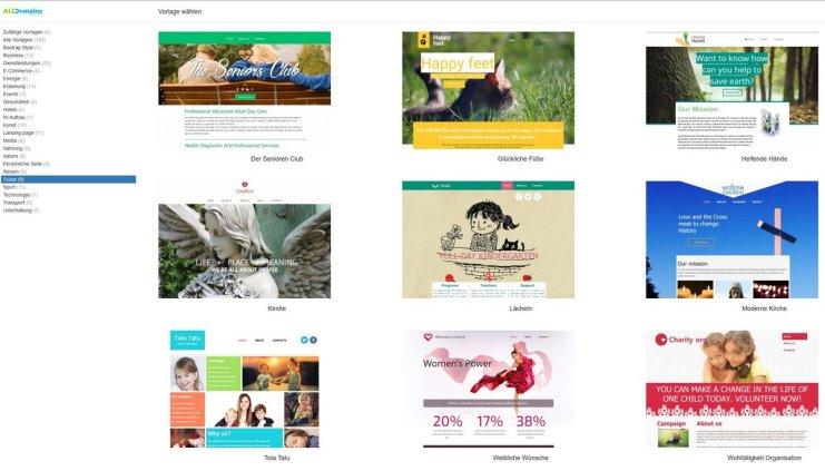 Homepage Vorlagen
