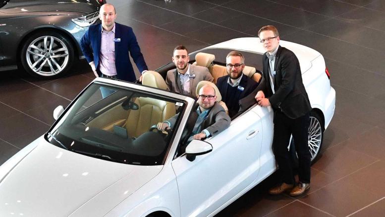 Ein weisses Audi A3 Cabriolet