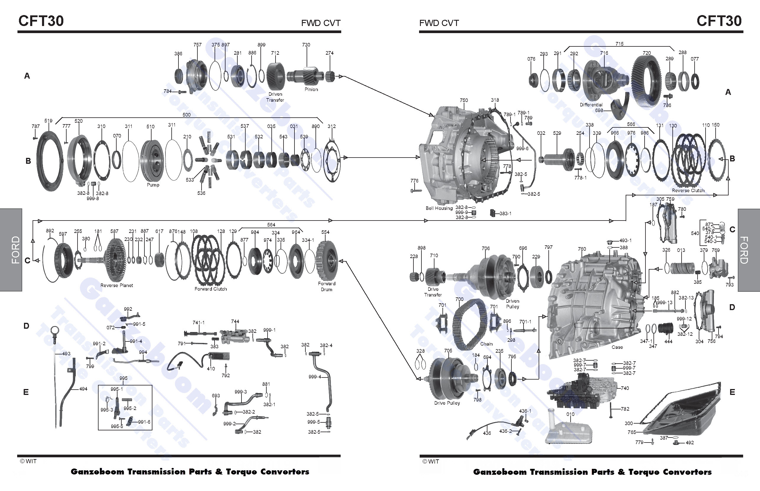 Ford cd4e transmission exploded view