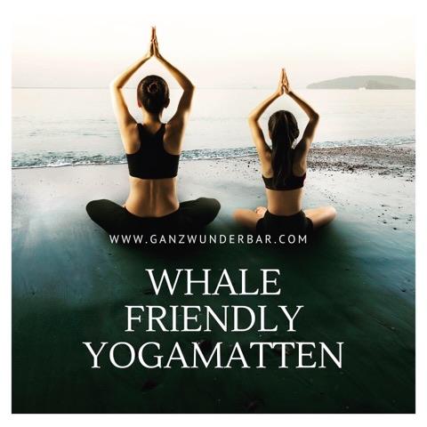 Öko Yogamatte für den Walschutz