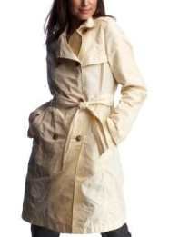 Women: Long belted trench coat - aran cream
