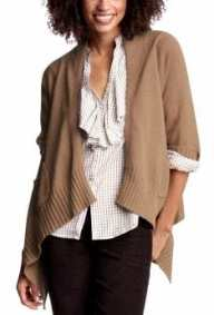 cashmer women's tall cardigans - camel heather