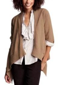 cashmer women's tall cardigans - camel heather