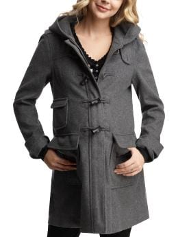 Hooded toggle coat – charcoal