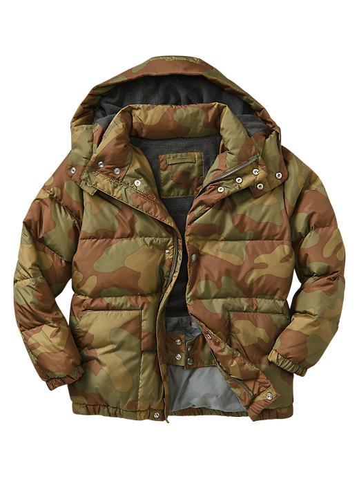 Gap Boys Primaloft Luxe Puffer Jacket Size L Husky - camo