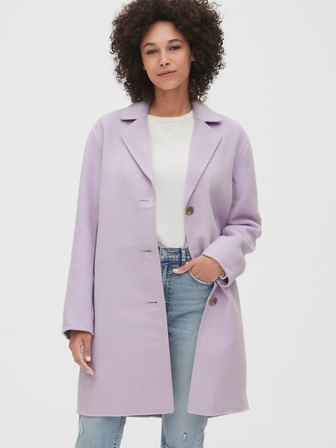 Unlined Wool-Blend Car Coat