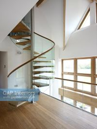 GAP Interiors - Contemporary hallway and spiral staircase ...