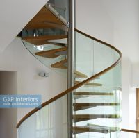 GAP Interiors - Detail of contemporary spiral staircase ...