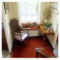 GAP Interiors - Chair and window seat in classic hallway ...