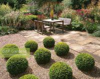 GAP Gardens - Gravel terrace with Buxus -Box topiary balls ...