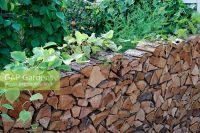 GAP Gardens - Rustic Log stack garden wall. 'Food 4 ...