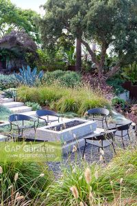 GAP Gardens - View of gas fired fire pit and outside ...