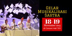 Ilustrasi Foto Gelar Musikalisasi Sastra 2015 (ist)