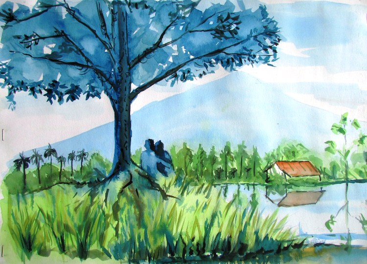 Pameran Seni Rupa 30 Lukisan Drawing dan Sketch di Taman