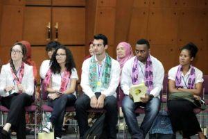 Foto: Pelajar Asia pasific belajar budaya di Indonesia. (ist)