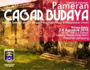 Foto: Poster Pameran Cagar Budaya Metro (ist)